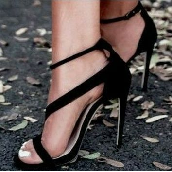 The new high heel shoes with open toe SHOES