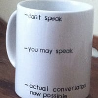 Don't speak coffee addict mug