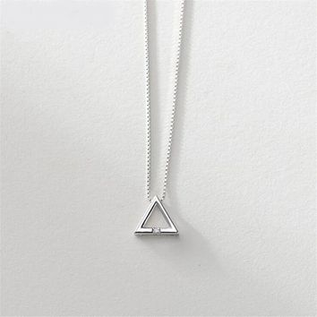 Inner Harmony Sterling Silver Triangle Pendant