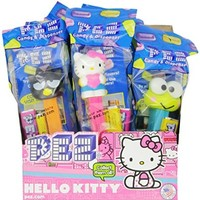 PEZ Hello Kitty, 0.58-Ounce Assorted Candy Dispensers (Pack of 12)