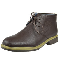 Mens Casual Shoes Tonal Stitched Lace Up Chukka Brown SZ
