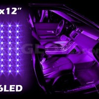 PURPLE 4pcs 36 LED Waterproof Three Mode Neon Accent light Kit for Car Interior Trunk Truck Bed Bush Fender