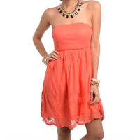 MY FAIR LADY LACE CORAL DRESS