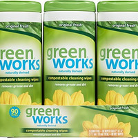 Green Works Compostable Cleaning Wipes, Original Fresh, 90 Count