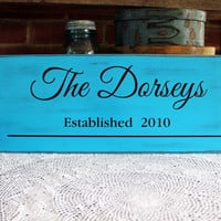 Personalized Family Name Sign Established Date Custom Wood Wall Decor, Wedding, Anniversary