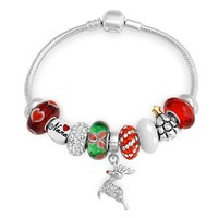 Bling Jewelry Red Holiday Bracelet