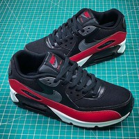 Nike Air Max 90 Black Red Sport Running Shoes - Sale