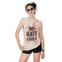 90s Hate Child UNISEX Distressed Tie Dye Muscle Tank Sizes S, M, L, XL