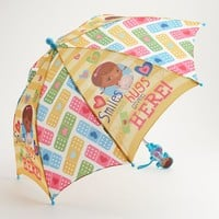 Disney Doc McStuffins ''Smiles and Hugs Given Here'' Umbrella - Girls (Yellow)