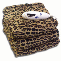 Biddeford Throw Comfort Knit - Cheetah Print