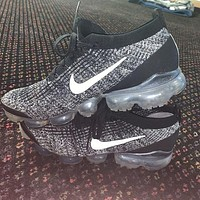 Nike Air VaporMax Flyknit Steam Atmospheric Cushion Sports Shoes Knitted Mesh Breathable Full Palm Air Cushion Men's and Women's Running Shoes