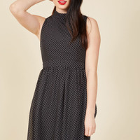 Rule the Whirl A-Line Dress