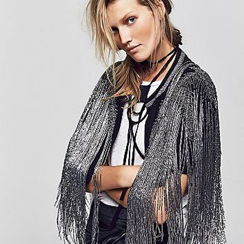 Free People Womens Starry Night Capelet