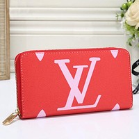 Louis Vuitton LV Women Fashion Leather Wallet Purse