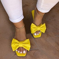 New Summer Shoes Large Size Bowknot Casual Slippers Women's Sandals