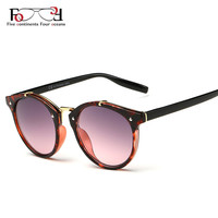2018 Vintage Round Sunglasses Women Brand Designer Eyewear UV400 Gradient Female Retro Sun Glasses