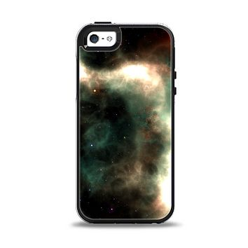 The Dark Green Glowing Universe Apple iPhone 5-5s Otterbox Symmetry Case Skin Set