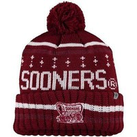 Oklahoma Sooners Top of the World Barometer Cuffed Knit Hat with Pom