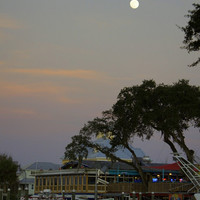 Full Moon Over The River Photographic Print