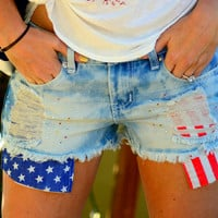 ALL AMERICAN GIRL DENIM SHORTS