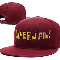 RHXING Superjail Logo Adjustable Snapback Embroidery Hats Caps - Red