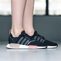 Adidas NMD R1 Black Pink s75234 Boost Sport Running Shoes Classic Casual Shoes Sneakers-1