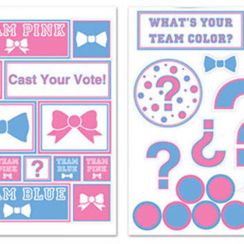 gender reveal decals Case of 12