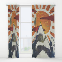 Mount Spitfire Window Curtains by happymelvin