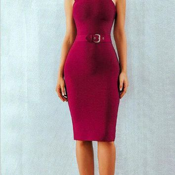 Elmira Belted Bandage Dress