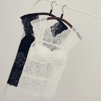 Summer Korean version of the full lace flowers sexy camisole