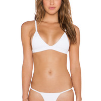 Pacific & Driftwood Drifter Bikini Top in White