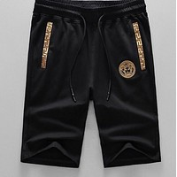 Onewel Versace Beach Shorts Contrast head print  Black white Gold Shorts