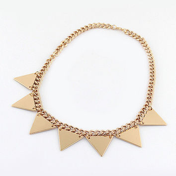 Gold Triangle Collar Necklace