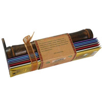 Incense Gift Set - Bamboo Burner + 7 Chakra Incense Sticks Packs & Holiday Greeting - Happy Holidays