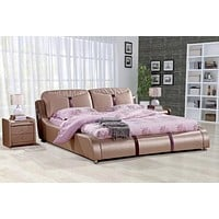 Leather Royal King Size  Soft Bed