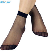 Womail Newly Design 10 Pairs Women's Socks Crystal Thin Transparent Thin Silk Socks ZQ Drop Shipping Womail