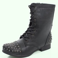 Studded Lace Up Boot