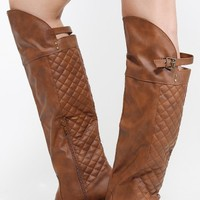 Qupid Relax-128x Quilted Riding Boots | MakeMeChic.com