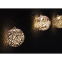 Walmart: Set of 10 Battery Operated White String Globe LED Patio Garden or Christmas Lights with Timer