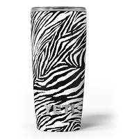 Toned Zebra Print - Skin Decal Vinyl Wrap Kit compatible with the Yeti Rambler Cooler Tumbler Cups