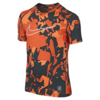 Nike Pro Cool Printed Fitted Boys' Training Shirt
