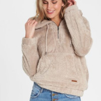 Billabong Women's Cozy For Keeps Polar Fleece Hoodie | Coconut Shell