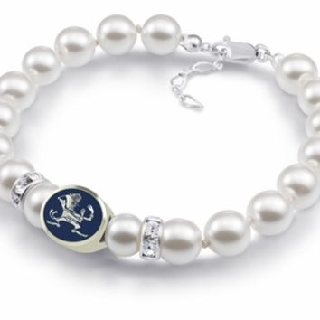 Buy Notre Dame Fighting Irish White Swarovski Pearl Bracelet. Free Shipping