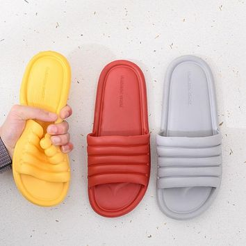 Unisex Slippers Women Men Shoes Summer Bathroom Slipper Lovers Indoor Sandals Fashion Home Slippers Non-slip Floor Flip Flops