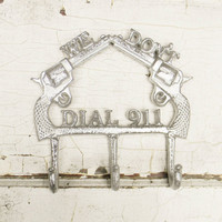 We don't dial 911 Wall Hook - Choose Your Color - Colorful Cast and Crew