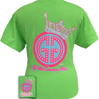 Girlie Girl Originals If the Crown Fits Logo Tiara Princess Bright T Shirt