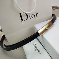 Dior fashion ladies gold buckle business all-match decoration with skirt belt