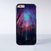 """Star night wood plastic phone case for iPhone 6 (4.7"""")  More case style can be selected"""