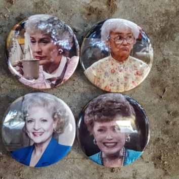 """Magnets:  2.25"""" 58MM The Golden Girls Set of 4 Magnets Dorothy Blanche Sofia and Rose"""