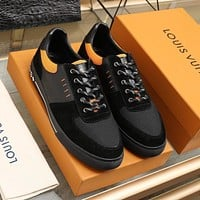 lv fashion men womens casual running sport shoes sneakers slipper sandals high heels shoes 374